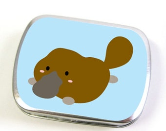 Platypus Tin Box in Blue (small or large)