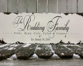 Shabby Chic FAMILY NAME SIGN | Established Sign | Wedding Sign | Anniversary Gift | Hand Painted Wooden Sign | Sepia