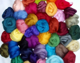 1lb, 25 colours merino wool roving for felting, merino spinning fiber, wool for needle felting, merino wool tops,wool roving,dolls hair,450g