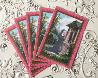 5pcs RITA PRAYER CARDS Vintage Miniature Devotions Italy