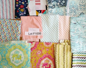 Fabric DESTASH LOT F1006 Over 7 Yards Mixed Quilting Cotton Fabric Includes Tula Pink, Rashida Coleman Hale