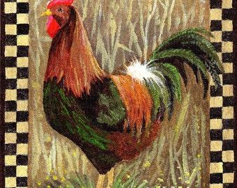 Art PRINT - Barnyard Boss by Patricia Ann Rizzo