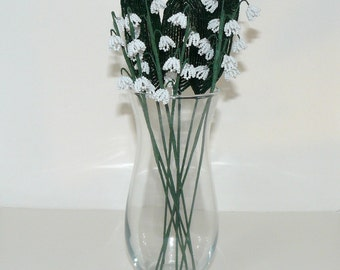 French Beaded Flowers Lily of The Valley