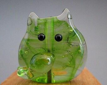Cat Bead Handmade Lampwork Focal - Adaire FatCat