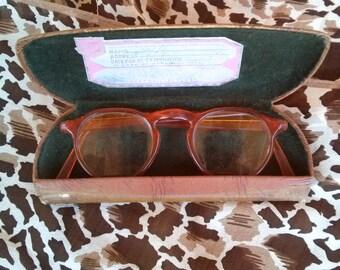 Vintage 1940s Glasses Tortoise Frame Round 40s Eyewear Sunnies Sunglasses 2016268