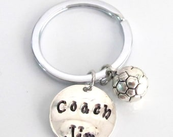 Soccer Coach Gift - Personalized Soccer Keychain  Coach Necklace  Soccer Player Gift Coaches Jewelry School Team Free Shipping In USA