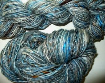 Handspun Wool Bamboo Silk Yarn Knitting Crochet