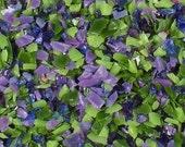 Destash Glass Frit Blend Berry Basket Bead Goodies COE 96 Purple Green 0.7oz Bag