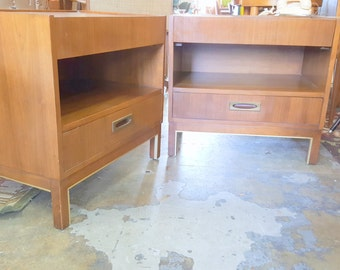 Mid Century American Of Martinsville Pair of End Tables or Nightstands