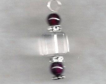 Garnet & Crystal Earrings
