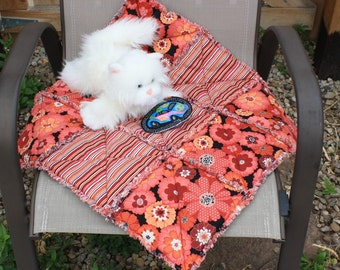 Cat Bed, Cat Quilt, Small Dog Blanket, Travel Pet Bed, Pet Accessories, Pet Bedding, Fabric Pet Bed, Luxury Pet Blanket, Crate Mat, Catnip
