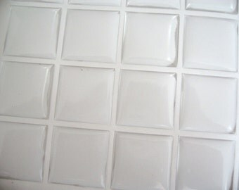 50pcs 25mm Clear Square Epoxy Domes Resin Cabochon Stickers