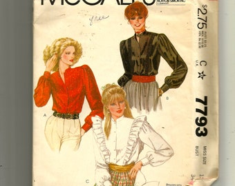 McCall's Misses' Blouses Pattern 7793