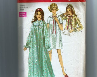 Simplicity Misses' Nightgown In Two Lengths and Bedjacket Pattern 8457