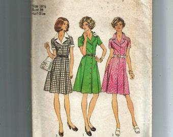 Simplicity Shirtdress in Half-Sizes Pattern 6157