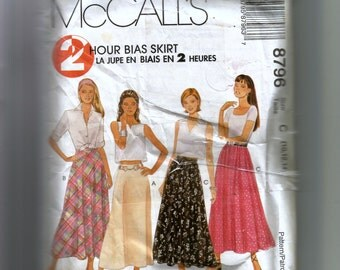 McCall's Misses' Skirts Pattern 8796