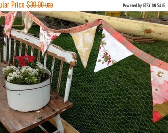 40% FLASH SALE- Garden Party Bunting-Vintage Collection-