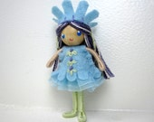 Princess Bendy Doll- Waldorf Bendable Felt Doll- Dollhouse Doll- Miniature Fairytale Princess- Small Doll- Child Friendly- Queen- Girl