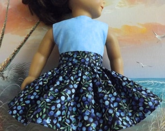 18 Inch Doll Clothes Summer Blueberry Medley Very Fully Gathered 50s Style Skirt with Waistband Medley NEW Style
