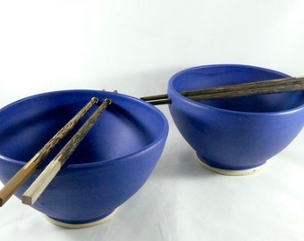 Chopstick Bowl, Ceramic Noodle Bowls with Chopsticks, Sushi Oriental dishes, pottery and ceramics, Asian pho bowls, Pottery rice dishes