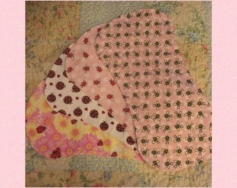 Flannel Baby Girl Burp Pads - 4 Patterns To Pick From