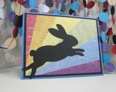 Rainbow Bridge Bunny Card - rabbit sympathy - bunny condolences - bunny passing - pet sympathy - animal sympathy
