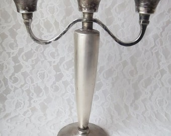 Silverplate Candleholder Candelabra 3 Arm Centerpiece from Pottery Barn, Weddings, Special Occasion, Dining, Home Decor