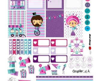 Alice's Circus Printable for MAMBI! The Happy Planner