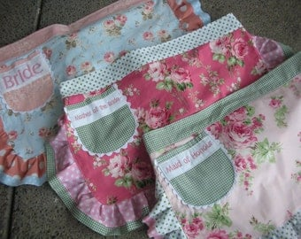 Monogramming - Embroidered Names - My Name Monogrammed on a Apron - Annies Attic Aprons - Monogramming Names on Aprons - Annies Attic Aprons