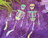 Radiant acrylic Skeleton Earrings