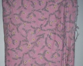 Pink Floral Print Cotton Fabric