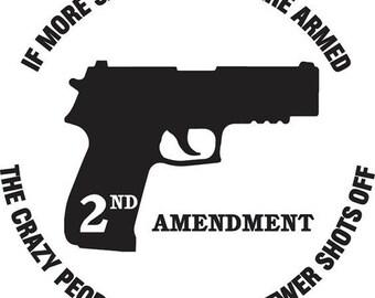 2nd ammendment decal, Gun decal