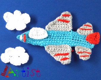 Crochet Applique jet