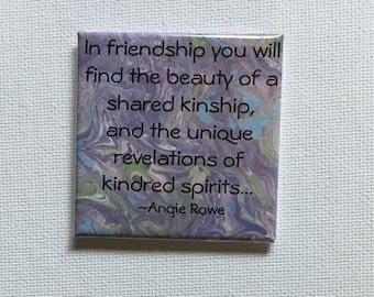 Square Friendship Magnet