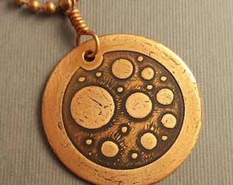 Circular Sensation in Copper Pendant 2