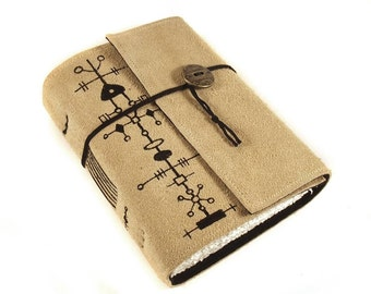Leather Journal, handmade, Alien
