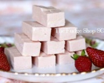 Southern Style Strawberry Fudge- 1 Pound Party, Snack, Wedding, Favors, Gift, Holiday, Special, Office, Treat, Sweet, Meetings, Visiting