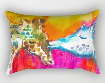 Giraffe Pillow Giraffe Cushion Beautiful sofa pillows Home Decor I love giraffes Nursery Decor Giraffe Throw Pillow Giraffe throw Unique