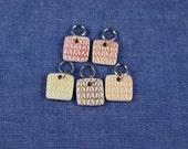 Stitchmarkers, Square Porcelain Warm colors