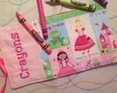 Princess Crayon Roll Up Personalized Holderd
