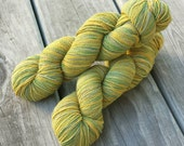 "SALE Hand Dyed Cotton Bamboo Nylon ""Summer Love"" Sock Yarn in ""Artichoke"" Multi Color 4 ounce skein 30% OFF"
