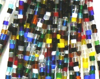 SALE One Hank 11/0 Czech Seed Tube Beads Beading Mix 39a