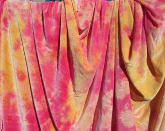 Golden Fire Hand Dyed Organic Bamboo Velour Blanket - Stadium Blanket - Throw