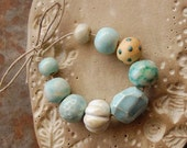 Reserved for the lovely opplert / Ocean Gems / Ceramic Bead Set