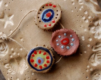 Eyes / Ceramic Bead Set