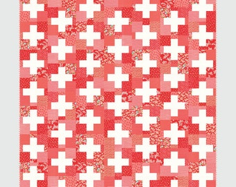 Swiss quilt pattern from Thimble Blossoms - fat quarter friendly