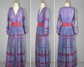 R E S E R V E D shop sale / 1970s / india dress / festival dress / ANOHKI vintage bohemian maxi dress