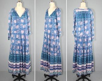 india dress / 1970s / bohemian / cotton gauze / ARABELLA festival dress