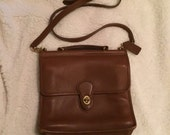 Vintage brown leather coach willis saddle crossbody bag NO. JOG-9927