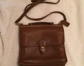 Vintage brown leather coach willis saddle crossbody bag NO. JOG-9927